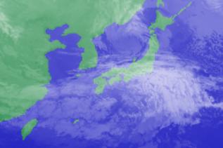 3月14日3時のひまわり雲画像