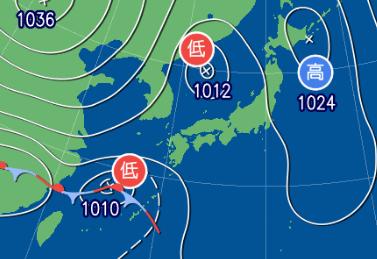 3月13日9時の予想天気図