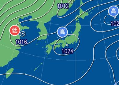 3月1日9時の予想天気図