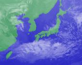 3月11日3時のひまわり雲画像