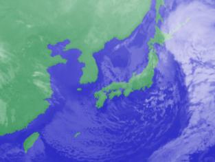3月3日3時のひまわり雲画像