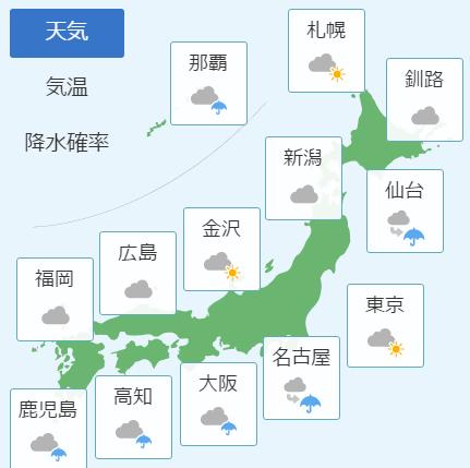3月13日の天気予報