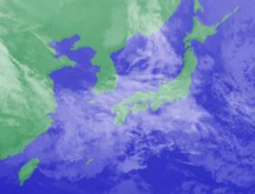 3月13日3時のひまわり雲画像