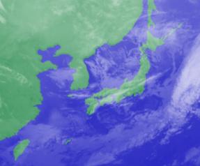 3月7日3時のひまわり雲画像