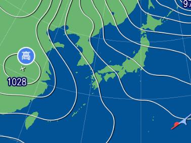3月8日9時の予想天気図