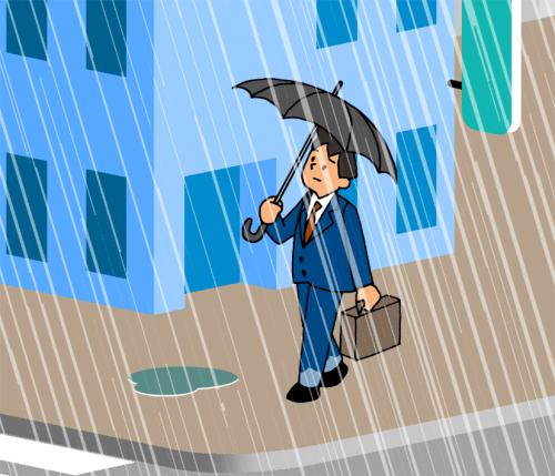 て 雨 っ どのくらい ミリ の 一